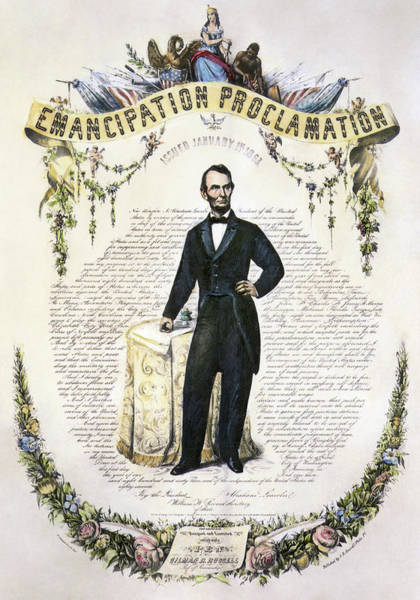 Wall Art - Painting - Emancipation Proclamation by Granger