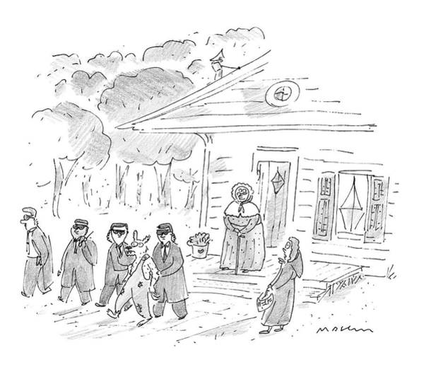 Home Drawing - My, My, Grandma, What Tight Security You Have! by Michael Maslin