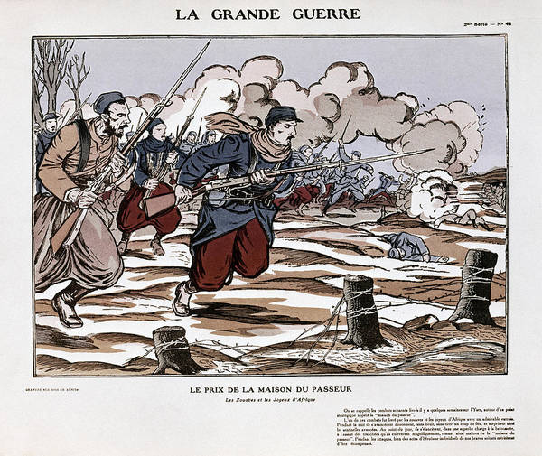 Wall Art - Painting - World War I French Poster by Granger