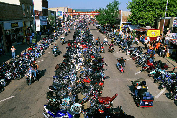 Sturgis Wall Art - Photograph - 2000s Motorcycle Rally In Sturgis South by Vintage Images