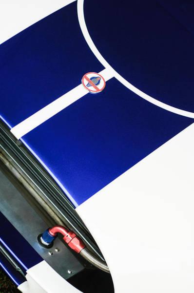 Photograph - 2001 Shelby Cobra Replica Hood Emblem by Jill Reger