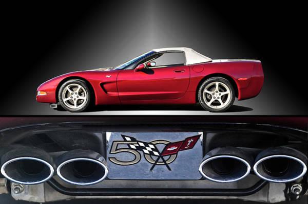 Wall Art - Photograph - 2002 Corvette 50th Anniversary Convertible II by Dave Koontz