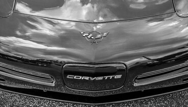 Mag Wheels Wall Art - Photograph - 2002 Corvette Ls1 5-7ltr Bw by Rich Franco