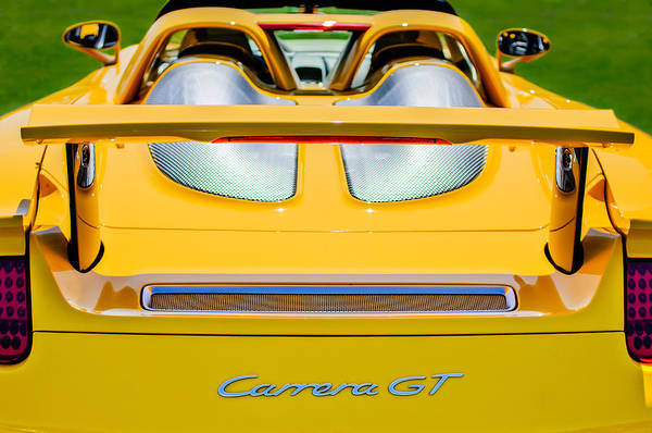 Wall Art - Photograph - 2004 Porsche Carrera Gt Rear Emblem - 1 by Jill Reger