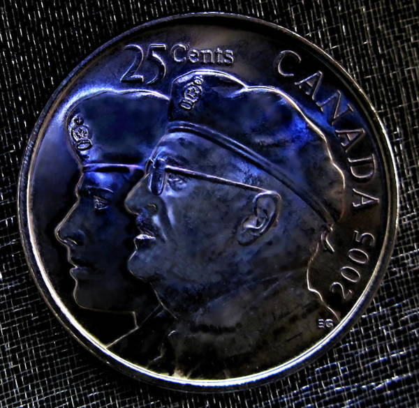 Photograph - 2005 The Year Of The Veteran 25 Cent Coin by Danielle  Parent