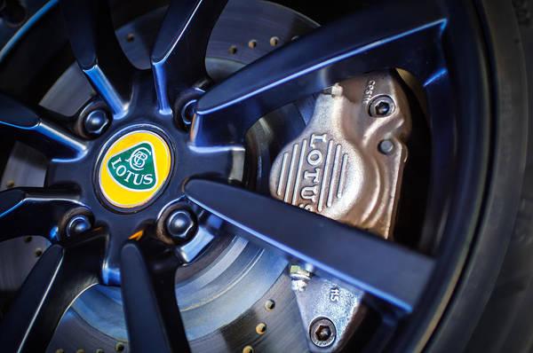 Photograph - 2006 Lotus Wheel Emblem -0036c by Jill Reger