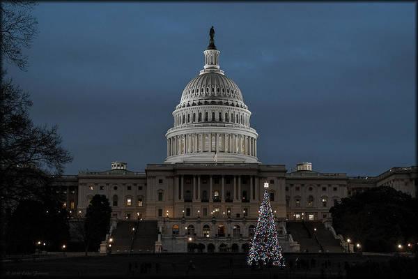 Photograph - 2007 Capitol Christmas by Erika Fawcett
