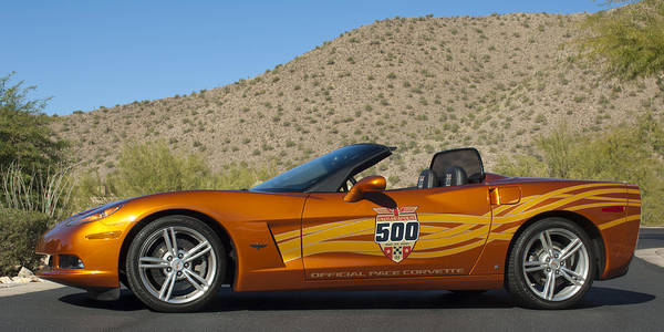Photograph - 2007 Chevrolet Corvette Indy Pace Car by Jill Reger