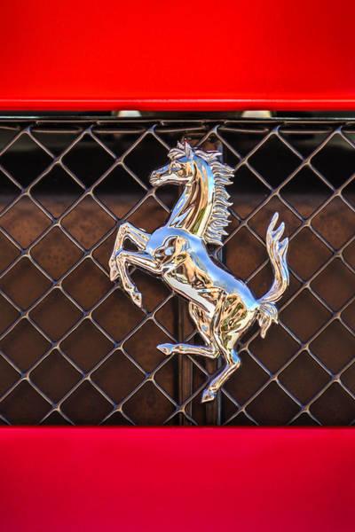 Photograph - 2007 Ferrari F430 Spider F1 Emblem -588c by Jill Reger