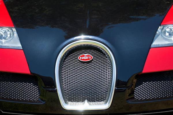 Photograph - 2008 Bugatti Veyron Grille Emblem -1288c by Jill Reger
