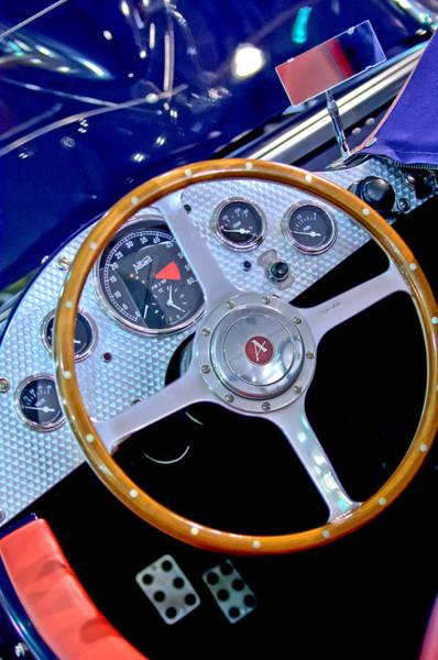 Commemorative Wall Art - Photograph - 2010 Allard J2x Mk II Commemorative Edition Steering Wheel by Jill Reger