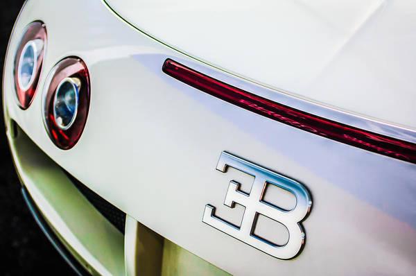 Photograph - 2010 Bugatti Veyron Grand Sport Taillight Emblem -0479c by Jill Reger
