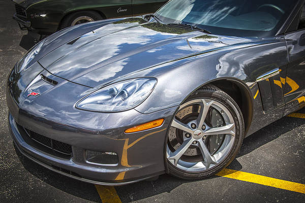 Mag Wheels Wall Art - Photograph - 2010 Chevy Corvette Grand Sport Hdr by Rich Franco