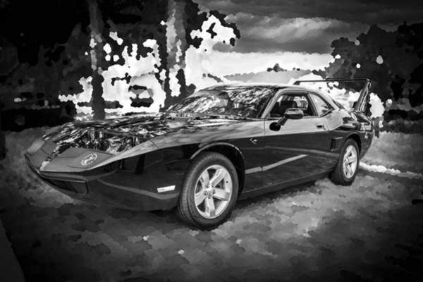 Photograph - 2010 Plymouth Superbird Bw by Rich Franco