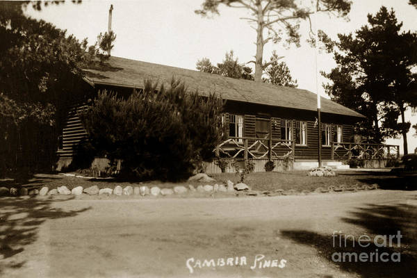 Photograph - 2011-007-0006 Cambria Pines Lodge San Luis Obispo County Circa 1930 by California Views Archives Mr Pat Hathaway Archives