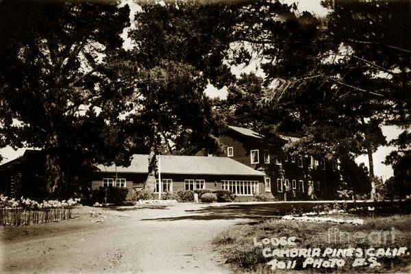Photograph - 2011-007-0007 Cambria Pines Lodge  Cambria San Luis Obispo Count Circa 1930 by California Views Archives Mr Pat Hathaway Archives
