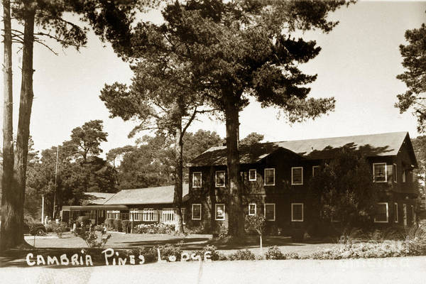 Photograph - 2011-007-0018  Cambria Pines Lodge San Luis Obispo County Circa  1940 by California Views Archives Mr Pat Hathaway Archives