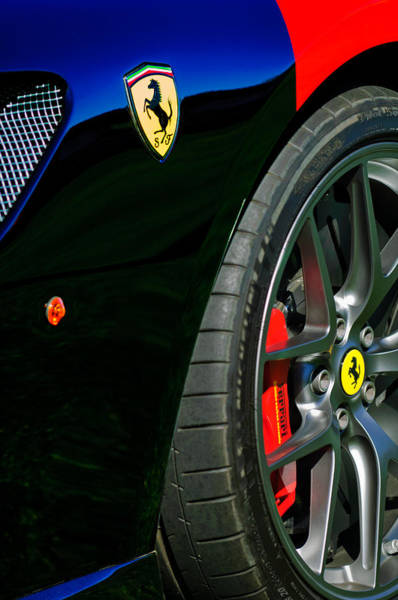 Photograph - 2011 Ferrari 599 Gto Emblem - Wheel -0378c by Jill Reger