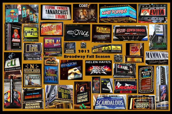 Photograph - 2012 Broadway Fall Season Collage by Steven Spak