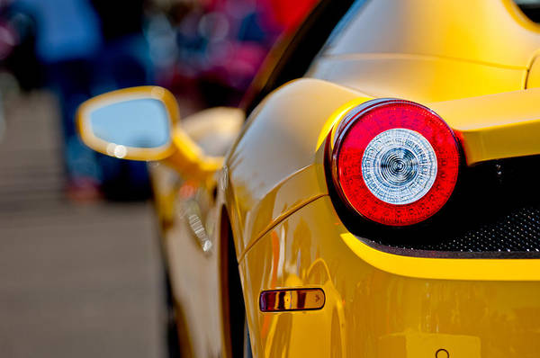 458 Photograph - 2012 Ferrari 458 Spider Taillight by Jill Reger