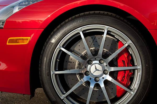 Wall Art - Photograph - 2012 Mercedes-benz Sls Amg Gullwing Wheel by Jill Reger