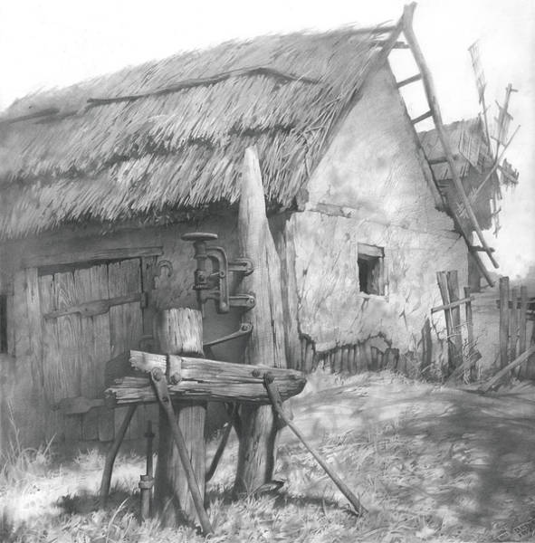 Ukraine Drawing - 2012 Museum Installation I by Denis Chernov