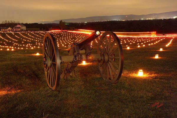 Luminaries Photograph - 2013 Antietam Cannon by Judi Quelland