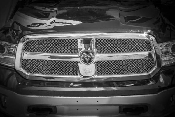 Heavy Duty Truck Wall Art - Photograph - 2013 Dodge Ram 2500 Hd Bw by Rich Franco