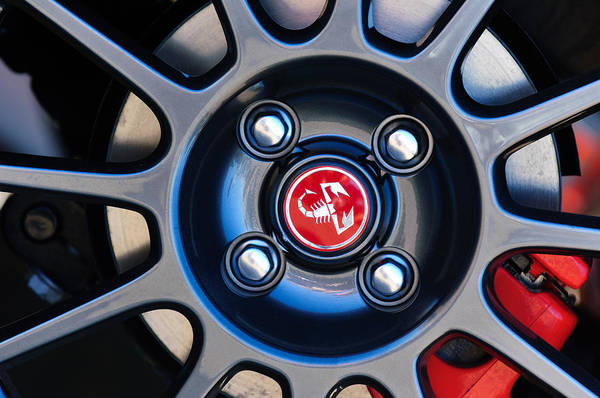 Photograph - 2013 Fiat Abarth Wheel Emblem by Jill Reger
