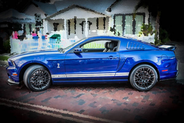 Street Racer Photograph - 2013 Ford Mustang Shelby Gt 500  by Rich Franco