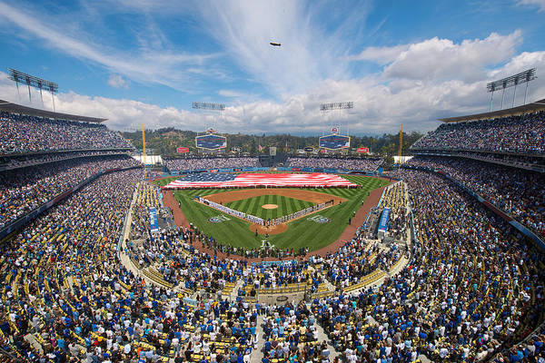 Photograph - 2013 Los Angeles Dodgers Season Opener by Mark Whitt