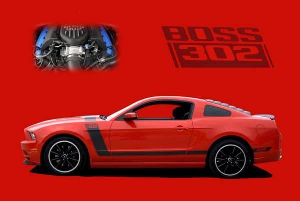 2013 Mustang Boss 302 Art Print