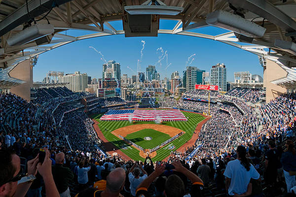 Photograph - 2013 San Diego Padres Home Opener by Mark Whitt