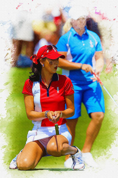 Rory Mcilroy Digital Art - 2013 Solheim Cup - Michelle Wie by Don Kuing