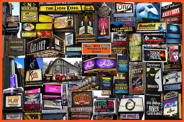 Photograph - 2014 Broadway Fall Season Collage by Steven Spak