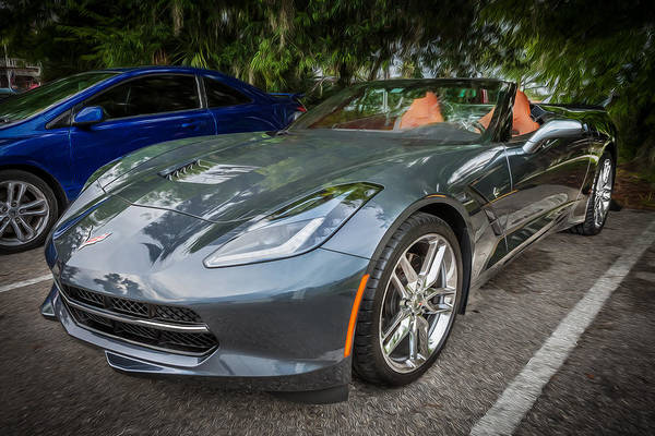 455 Photograph - 2014 Chevrolet Corvette C7 Painted by Rich Franco