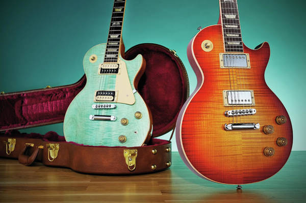 Music Photograph - 2014 Gibson Les Paul Guitars by Guitarist Magazine