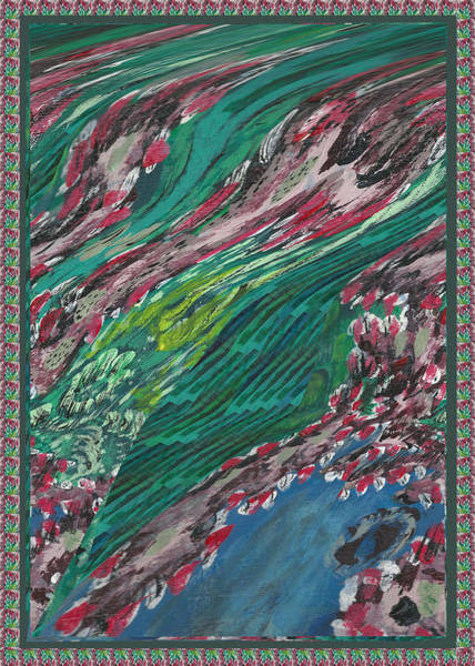 Promotion Mixed Media - 2014  Nature Floods Saw No Borders Between India Pakistan And Flooded Whole Region. by Navin Joshi