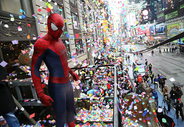 Spider Rock Photograph - 2014 New Years Eve Confetti Test by Astrid Stawiarz