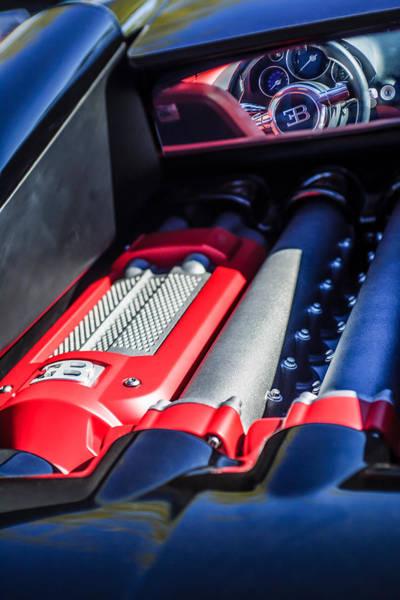 Photograph - 2015 Bugatti Veyron Legend Engine -0460c by Jill Reger