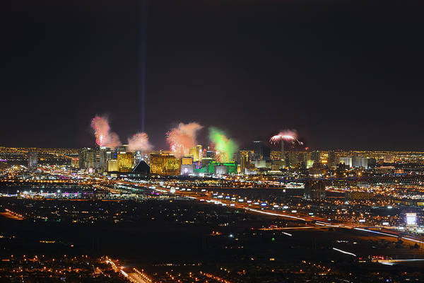 Photograph - 2015 Las Vegas New Years Fireworks by Mark Whitt