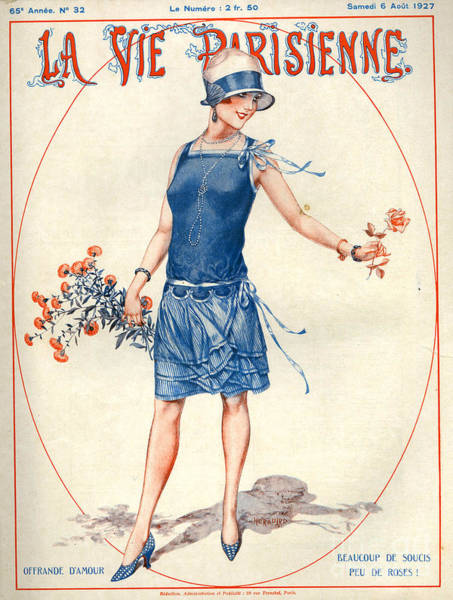 Wall Art - Drawing - 1920s France La Vie Parisienne Magazine by The Advertising Archives