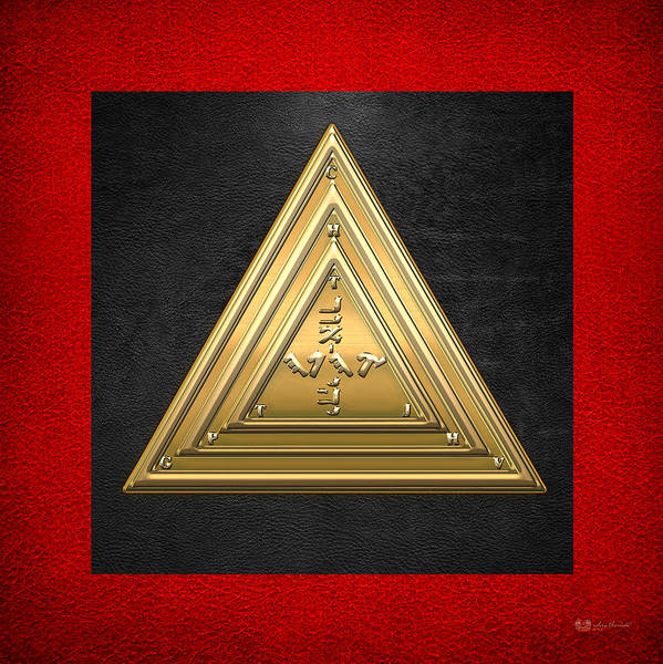 Digital Art - 20th Degree Mason - Master Of The Symbolic Lodge Masonic Jewel  by Serge Averbukh