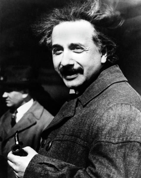 Photograph - Albert Einstein by Emilio Segre Visual Archives/american Institute Of Physics