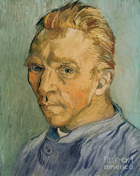 Wall Art - Painting - Self Portrait by Vincent Van Gogh