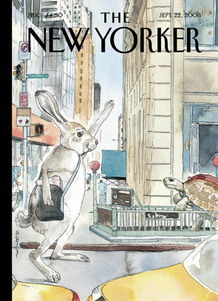 Haring Painting - New Yorker September 22nd, 2008 by Barry Blitt