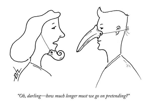 Disguise Drawing - Oh, Darling - How Much Longer Must We Go by Erik Hilgerdt