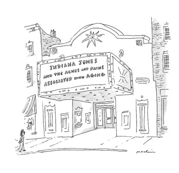 Aging Drawing - New Yorker May 26th, 2008 by Michael Maslin