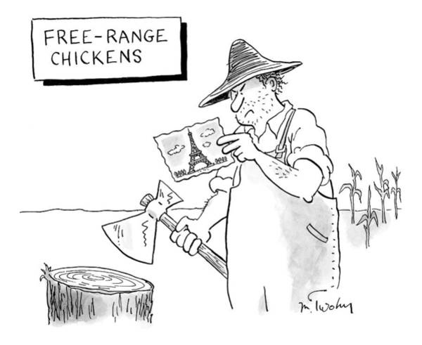 Farmer Drawing - New Yorker April 20th, 2009 by Mike Twohy