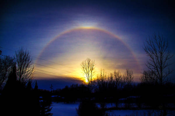 22 Degree Halo Wall Art - Photograph - 22 Degree Halo And Upper Tangent Arc by TJ Larson